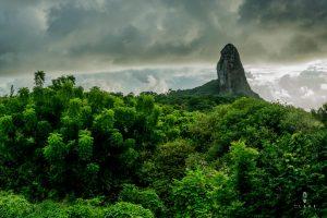 Green hills in Fernando de Noronha