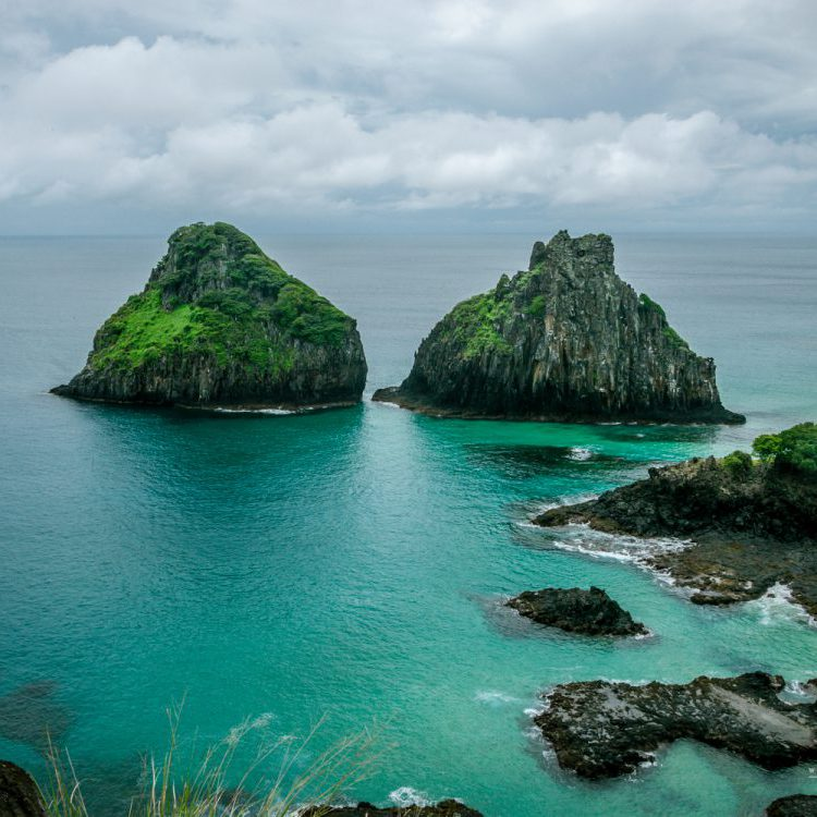 Two brothers rocks in Fernando de Noronha