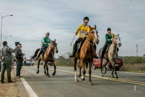 Start of an endurance horse race in Uruguay