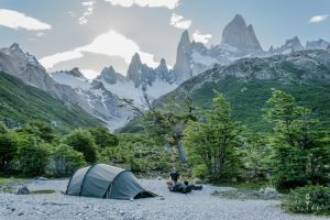 camperen bij Fitz Roy with a Hilleberg Nallo 3GT