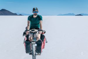 Cycling on Salar de Uyuni