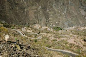 haarspeldbochten in Peru tijdens een mooie fietsroute in Peru