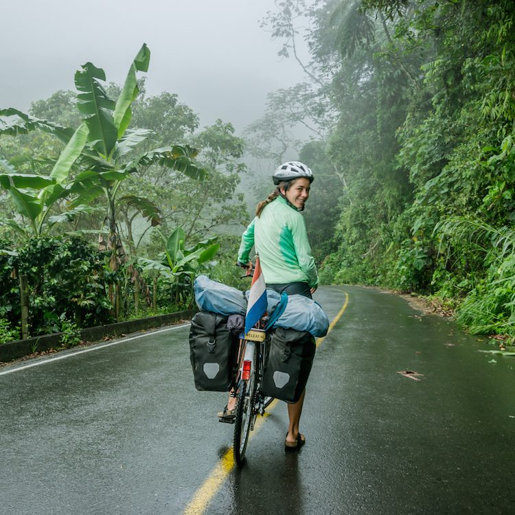 Cycling through the coffee fields in Colombia