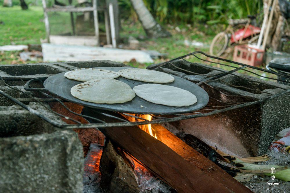 tortillas made on a wooden fire