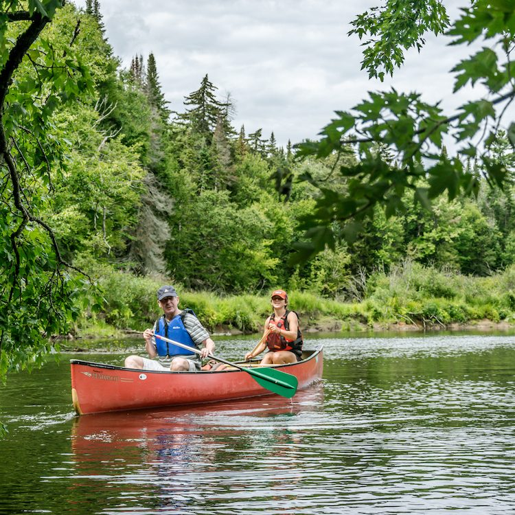 Canoeing with parents