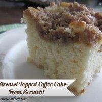 Homemade Streusel Topped Coffee Cake Recipe