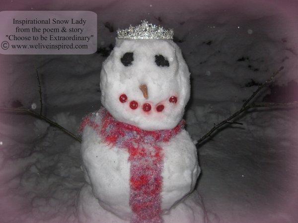 Snowman Wearing a Crown