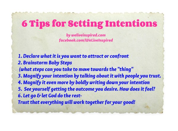 6 tips for setting intentions