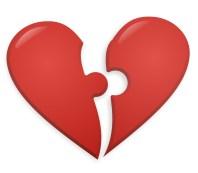 broken heart puzzle pieces