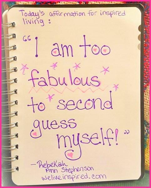 im fabulous affirmation