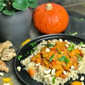 Veganes Kürbis Curry mit Basmati Reis