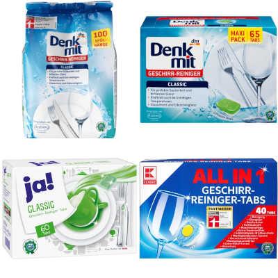 gut bei Stiftung Warentest: Geschirrspülmittel - Tabs und Pulver
