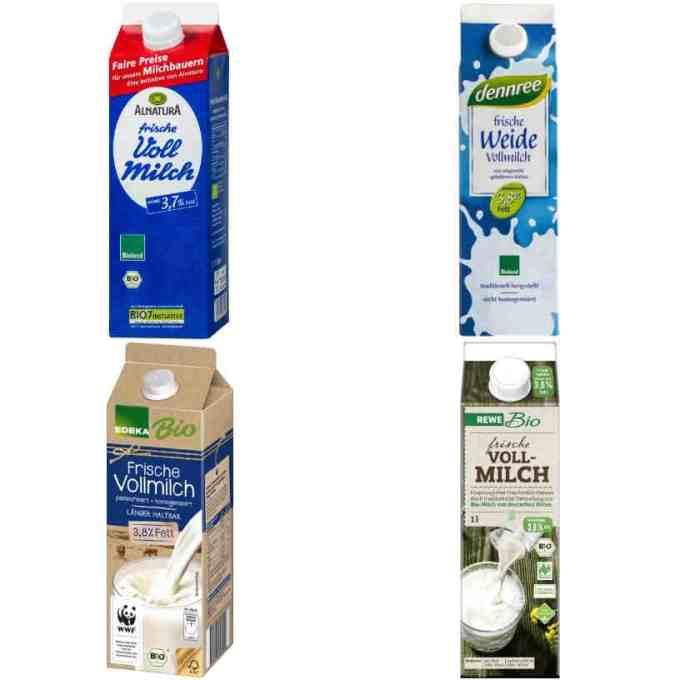 (sehr) gut in Tests von Stiftung Warentest und Öko-Test: Milch