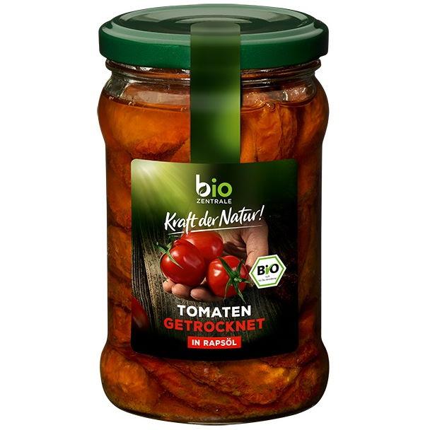 Testsieger und gut im Test von Stiftung Warentest 6/2017: Bio-Zentrale Getrocknete Tomaten in Rapsöl (Bio)