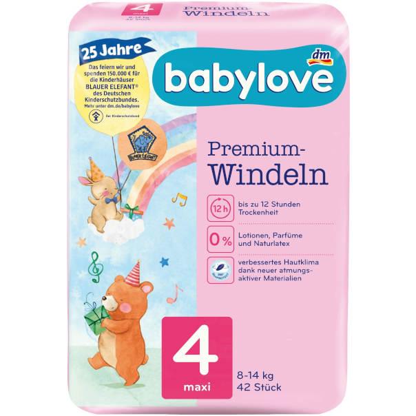 gut im Test von Stiftung Warentest 08/2021: babylove Windeln Premium (dm)