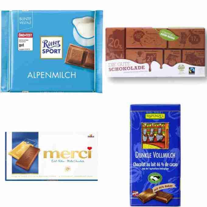 Testsieger und gut im Test von Stiftung Warentest und Öko-Test: Milchschokolade