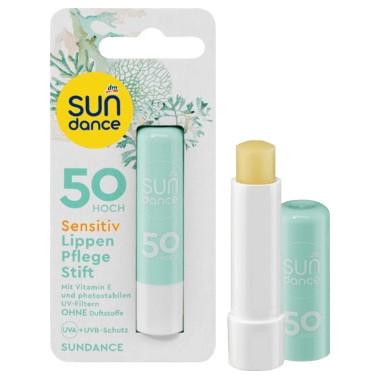 """Testsieger und """"sehr gut"""" im Test von Öko-Test 01/2019: Sun Dance Sensitive Lippenpflegestift (LSF 50) (dm)"""