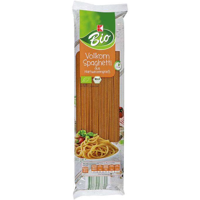 sehr gut im Test von Öko-Test 3/2020: K-Bio Vollkorn Spaghetti (Kaufland)