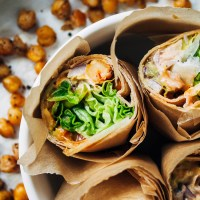 Vegan Buffalo Chickpea Wraps