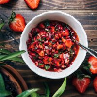 Summer Strawberry Salsa