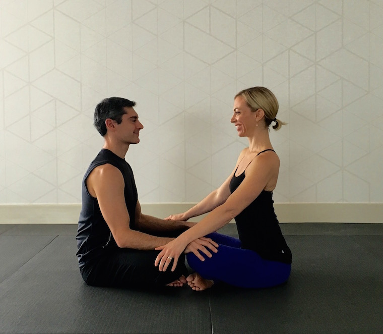 Simple Yoga Pose 3 People