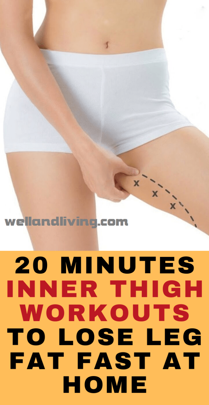 20 Minutes Inner Thigh Workouts to Lose Leg Fat Fast At Home