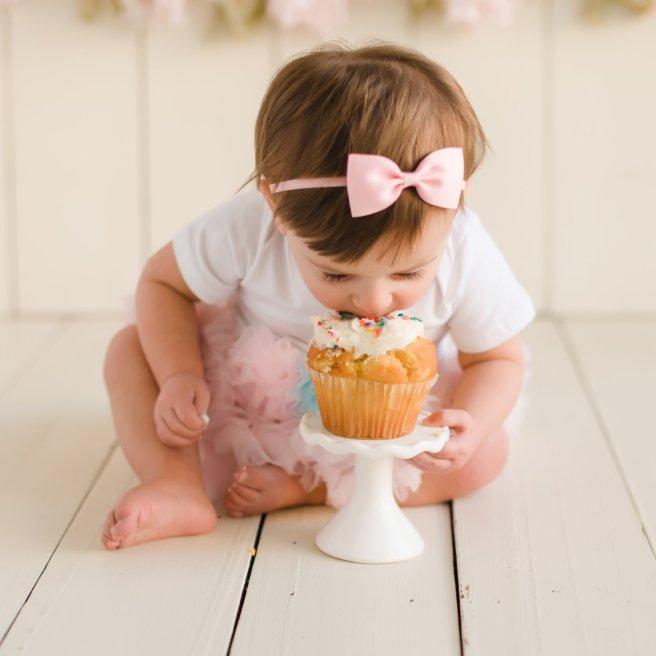 Daughter Eating Cupcake