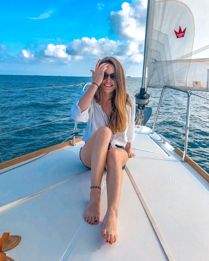 Woman Goes Sailing in Barcelona