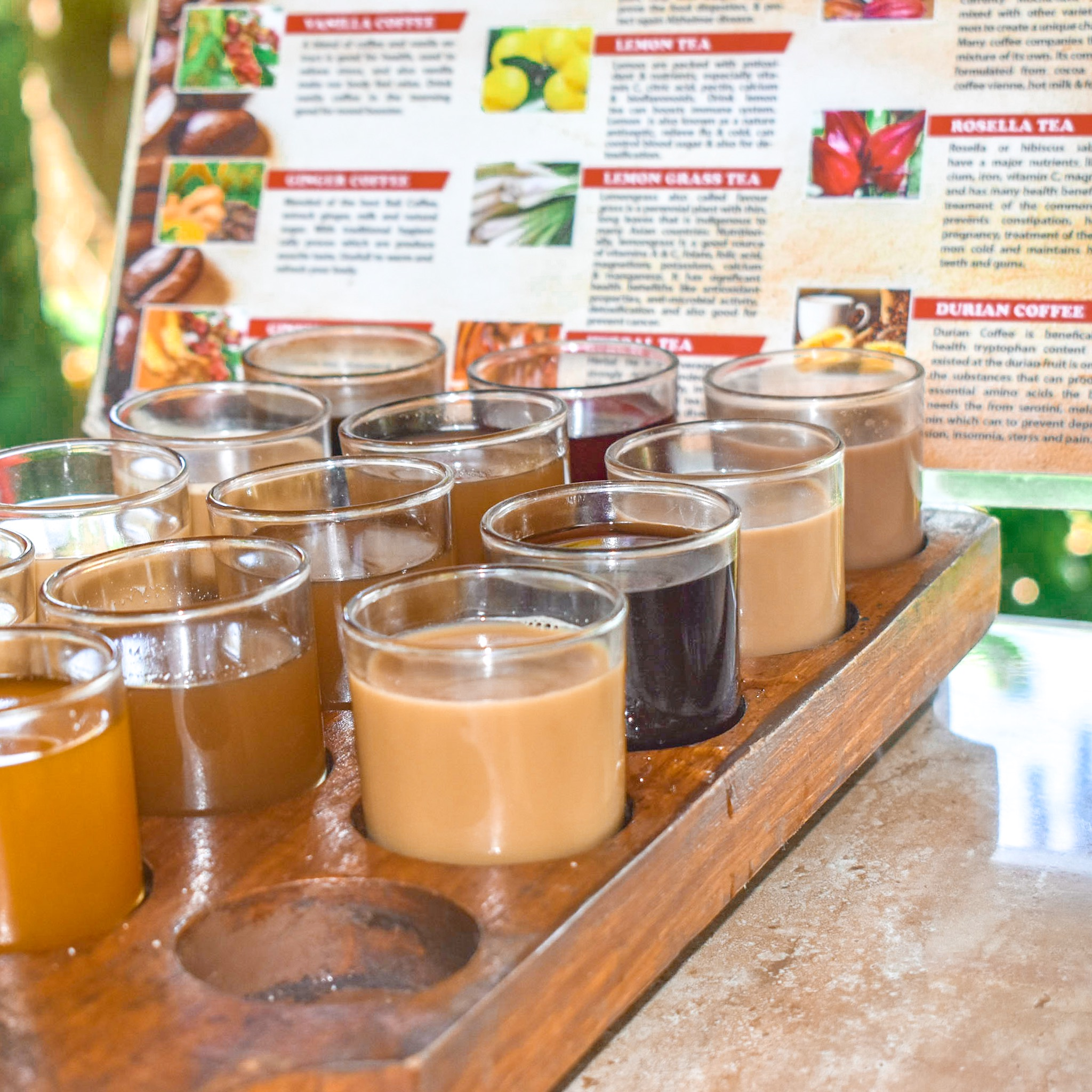 Coffe and Tea Samples in Bali