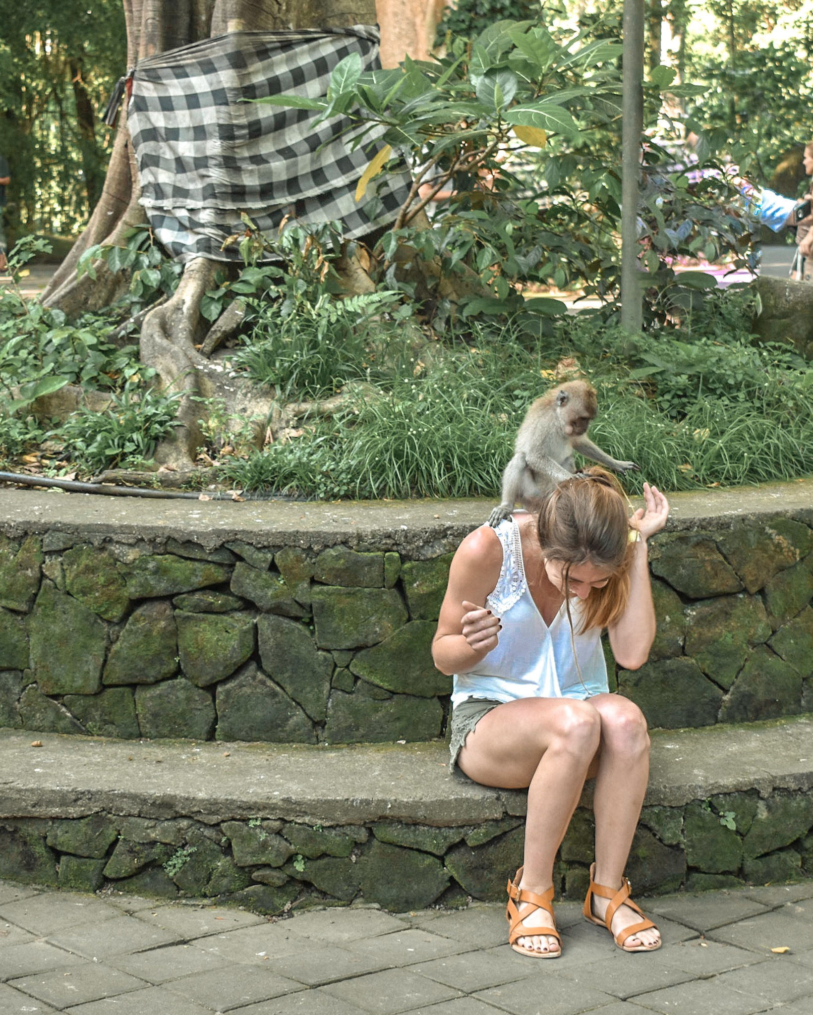 Woman at Monkey Forest in Bali, Indonesia