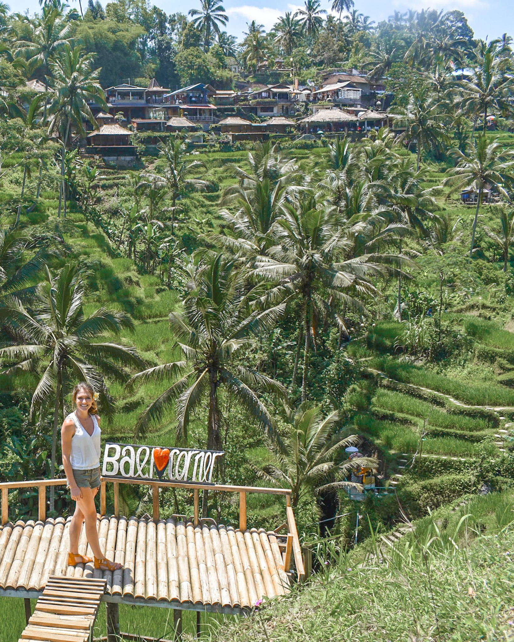 Bali Corner in the Rice Terraces of Ubud