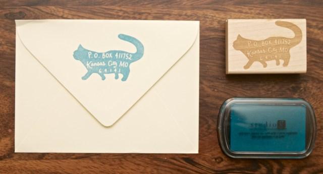 Paper Pastries Custom Return Address Rubber Stamp