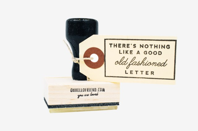Oh, Hello Friend Old-Fashioned Letter Rubber Stamp