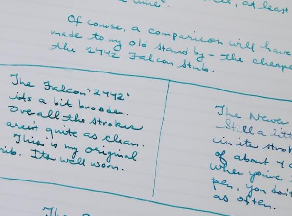 Esterbrook 9314F writing close-up