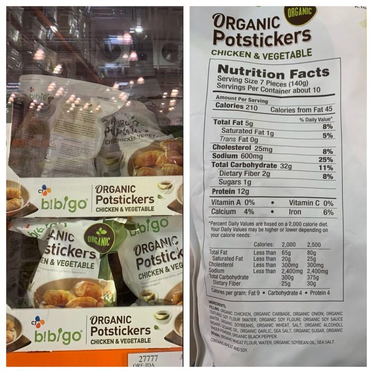 Costco Bibigo Organic Potstickers