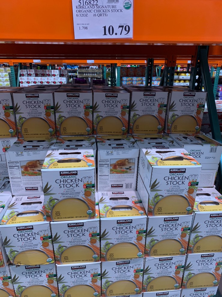 Costco Kirkland Organic Chicken Stock