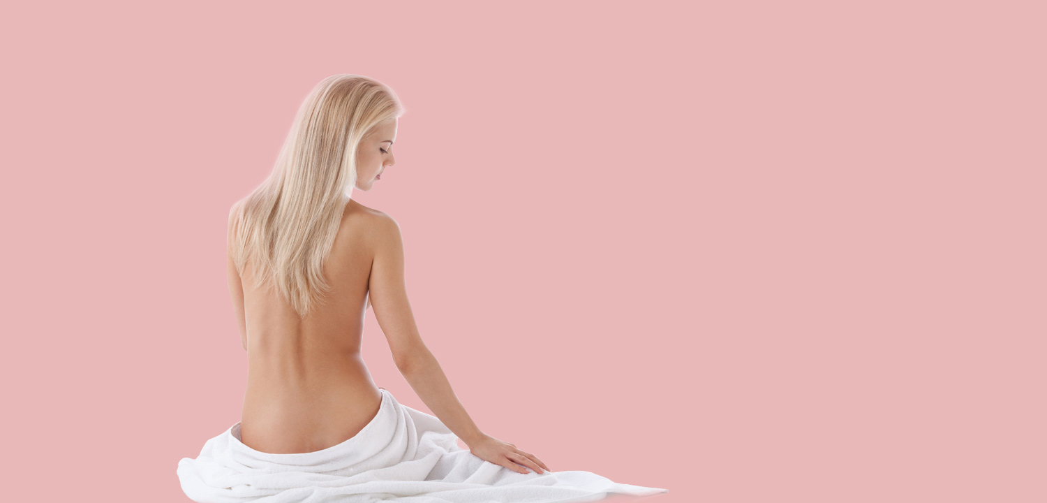 Woman in white towel
