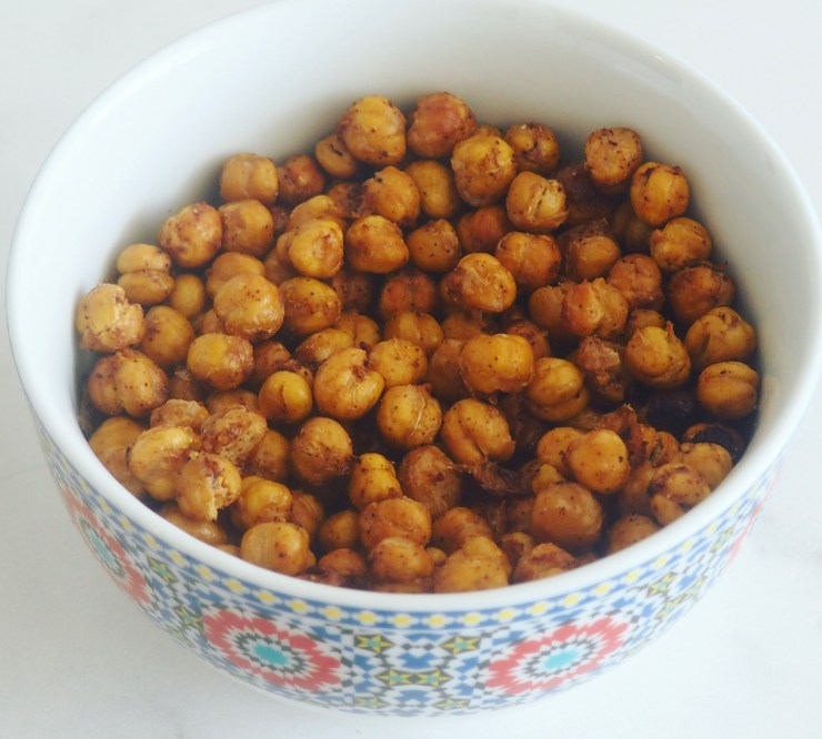 crispy chickpeas in bowl