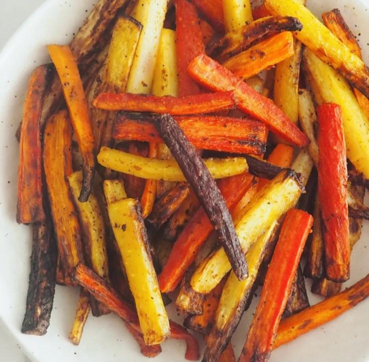 rainbow carrot fries