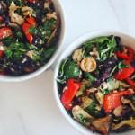 Mediterranean salad with mushrooms