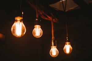 lighted four bulbs