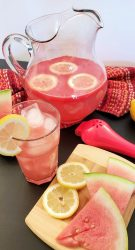 glass of watermelon lemonade