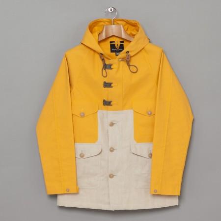 "The ""Raw yellow"" Cameraman jacket, Machintosh upper and Irish linen lower part"