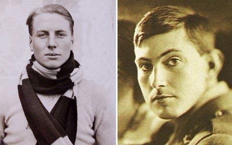"Mountain climber George Mallory and his accomplice Andrew ""Sandy"" Irvine."