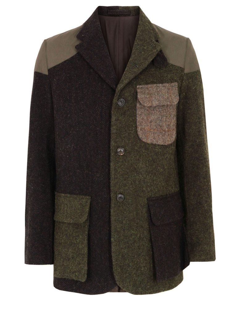 """The """"Crazy"""" Mallory jacket is made up of quite different variants of Harris Tweed."""