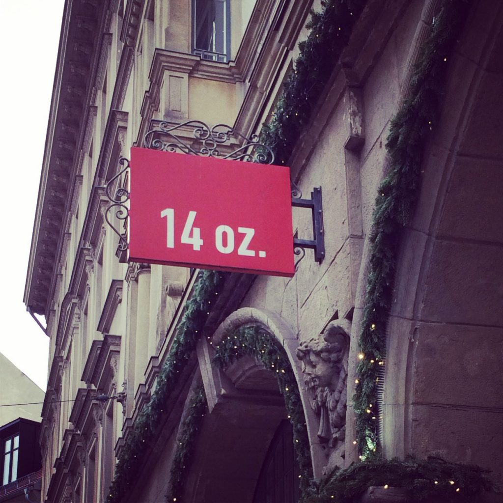 The 14oz shop in Mitte.