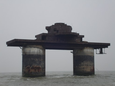 Naval style sea fort.