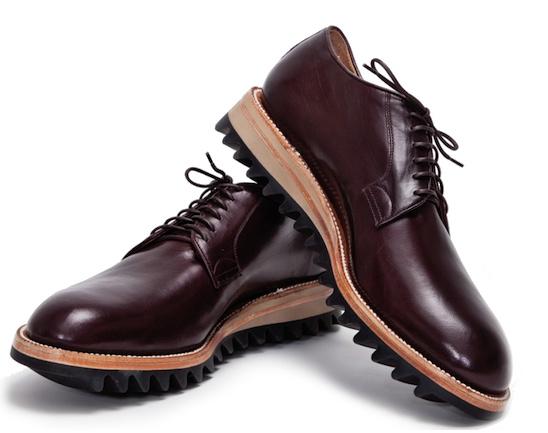 Ripple soles on Yuketen Derby shoes.