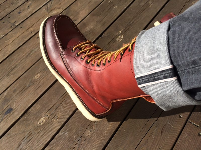 The Red Wing 877, high shank, long laces, eyelets only, no speedhooks.
