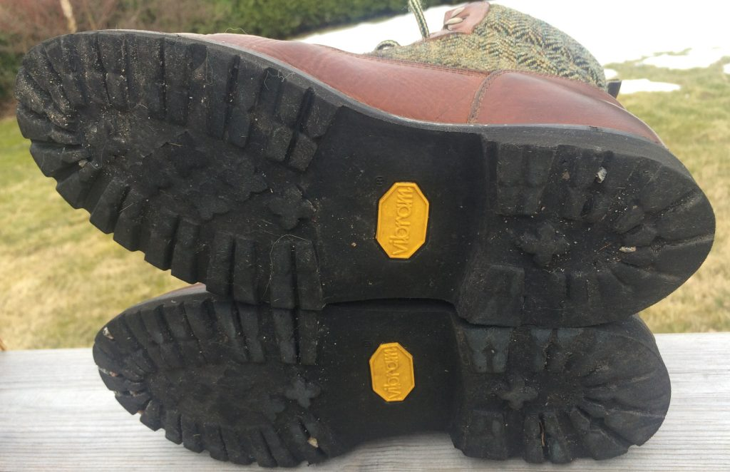 The Vibram branded soles though are not faring as well. Bad wear all over the sole!